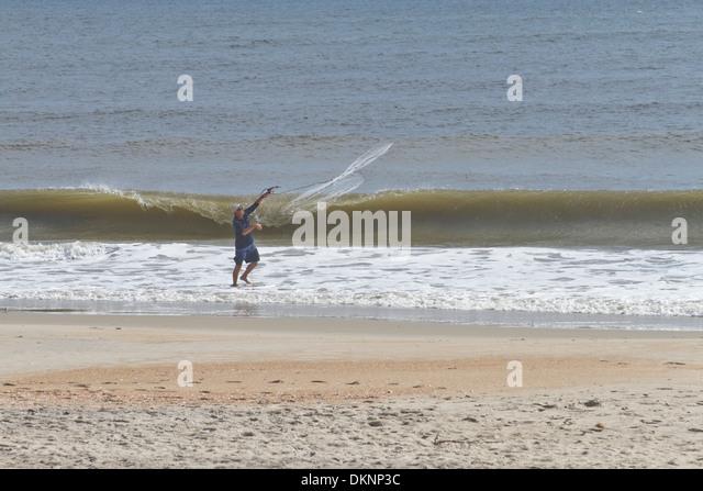 Carolina beach nc fishing stock photos carolina beach nc for Surf fishing nc