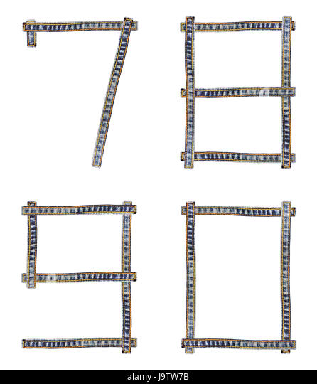 Jeans Alphabet Denim Number Stock Photos & Jeans Alphabet Denim ...