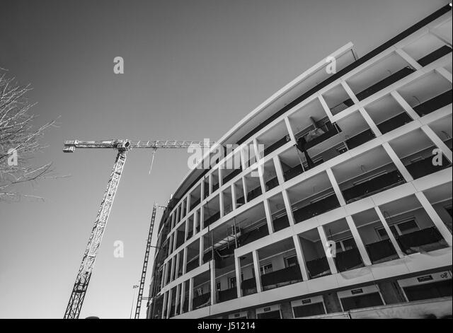 Construction Crane Black And White Stock Photos Images