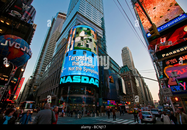 nasdaq times square stock photos nasdaq times square stock images alamy. Black Bedroom Furniture Sets. Home Design Ideas