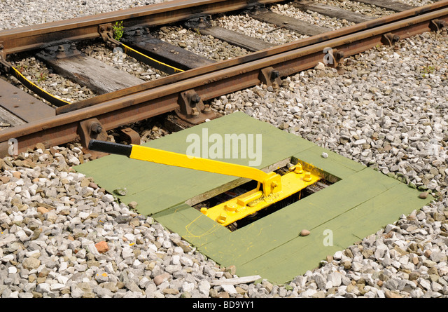 Lever Train Track : Points rail stock photos images alamy