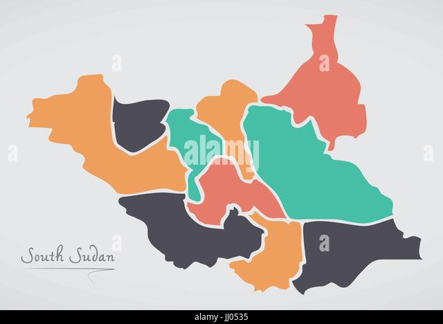 South Sudan Map Stock Photos South Sudan Map Stock Images Alamy
