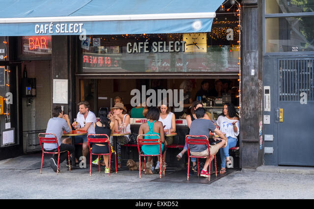 Alfresco dining at caf 233 select on lafayette street in soho in new