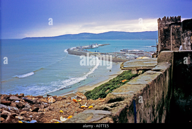 Tangier morocco stock photos tangier morocco stock - Moroccan port on the strait of gibraltar ...