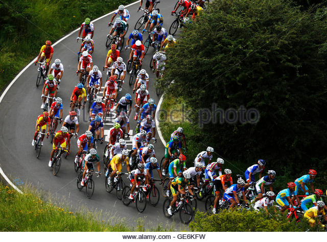 Circuit during the men s cycling road race at the london 2012 olympic