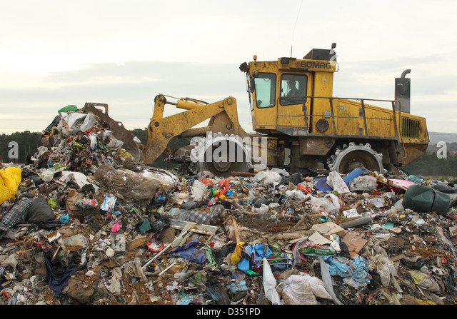 Landfills With Tractors : Landfill site stock photos images