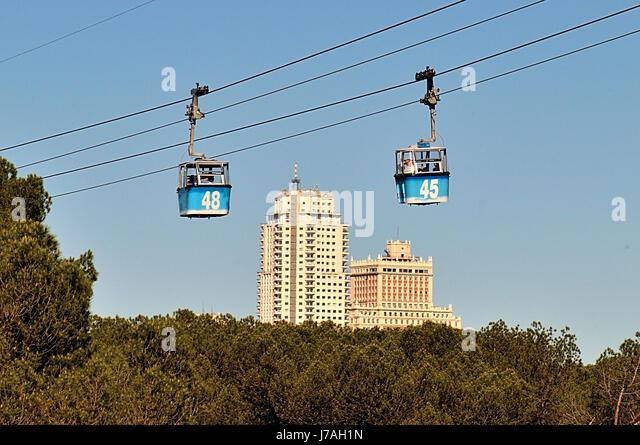 Madrid cable car stock photos madrid cable car stock - Casa de campo park ...