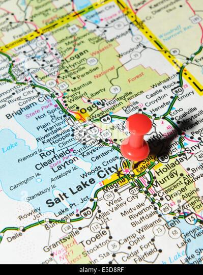 Salt Lake City Map Stock Photos Salt Lake City Map Stock Images - Salt lake city on us map