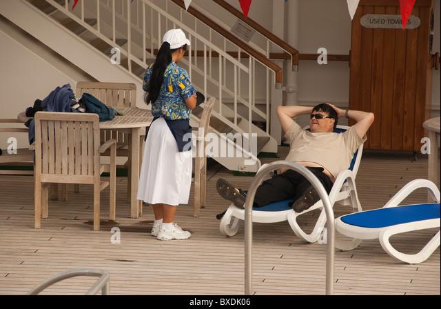 Cruise Ship Bar Deck Stock Photos Cruise Ship Bar Deck Stock - Steward cruise ship