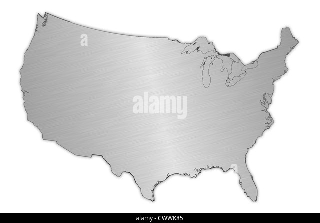 Usa Map Black And White Stock Photos Images Alamy - Usa map outline