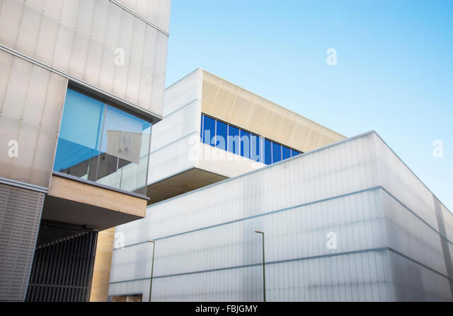facade of barcelo market madrid spain stock image