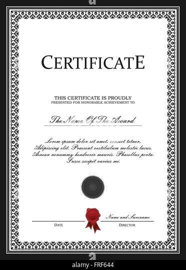 Shares certificate stock photos shares certificate stock images certificate template vector stock image yadclub