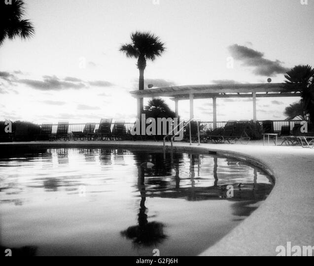 Outdoor Swimming Pool Black And White Stock Photos Images Alamy