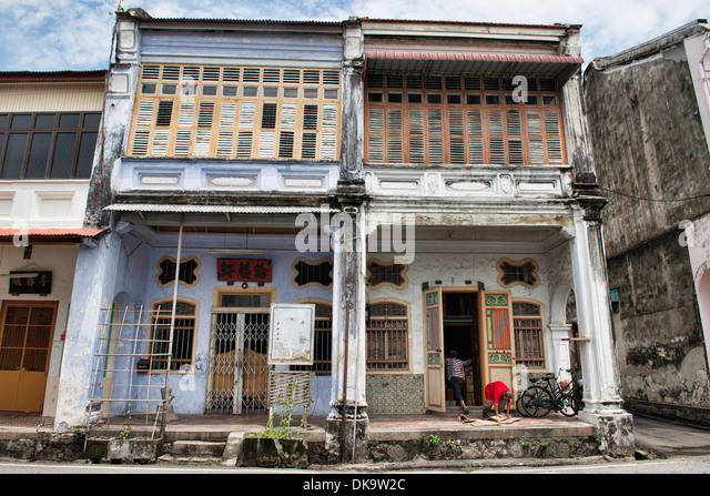 Traditional chinese house in georgetown stock photos for Classic house kl