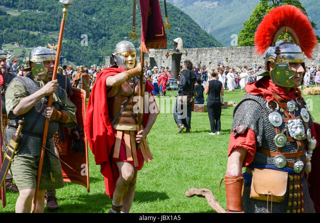 Bellinzona Switzerland - 21 May 2017 Exhibition of Roman centurions at Castelgrande castle in & Centurion Legionnaire Costume Helmet Stock Photos u0026 Centurion ...