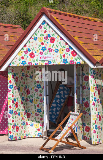 Bournemouth Dorset UK 23 May 2015. Cath Kidston decorated beach huts at Bournemouth & Cath Kidston Stock Photos u0026 Cath Kidston Stock Images - Alamy