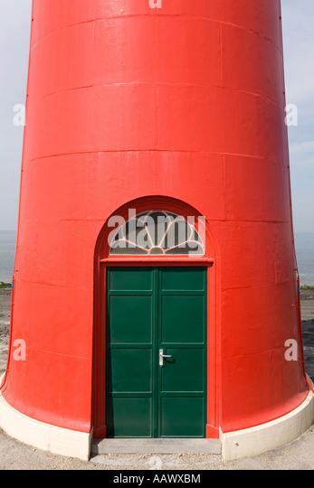 Door of a signal red lighthouse Westkapelle peninsula Walcheren Zeeland The Netherlands & Lighthouse Westkapelle Zeeland Netherlands Stock Photos ... Pezcame.Com