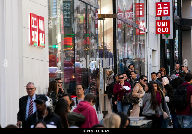 Stock Photo - A Uniqlo clothing retail store in downtown San Francisco