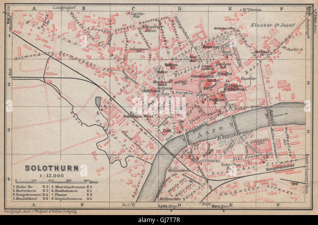 Solothurn Map Stock Photos Solothurn Map Stock Images Alamy