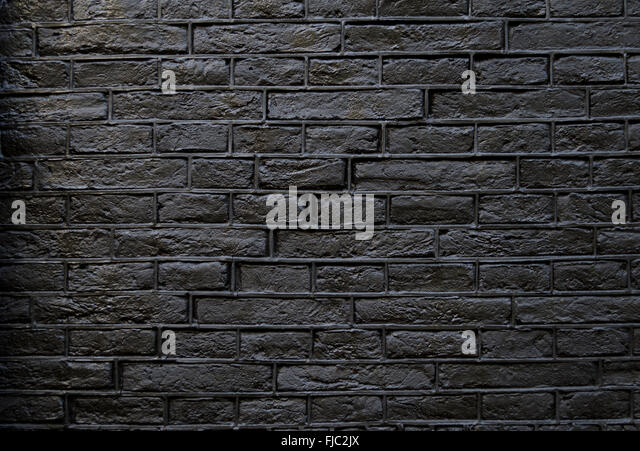 Dark Grey Brick Wall Suitable For Use As A Background