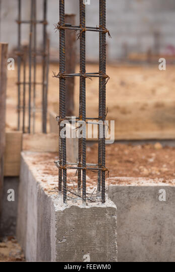 Black Metal Pillar Building : Metal support pillars stock photos