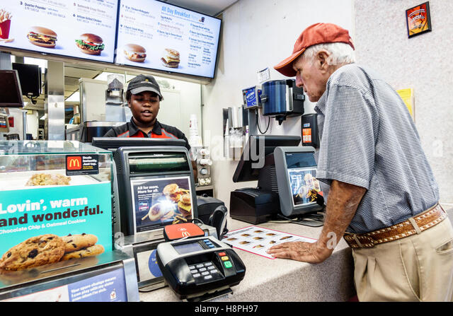 Fast Food Counter Front Facing Images