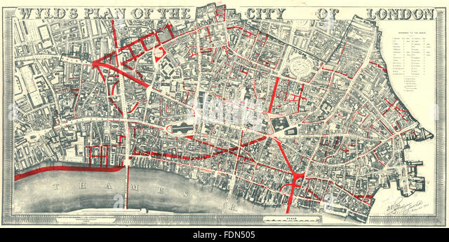 London Street Map 19th Century Stock Photos: London Old Street Map At Infoasik.co