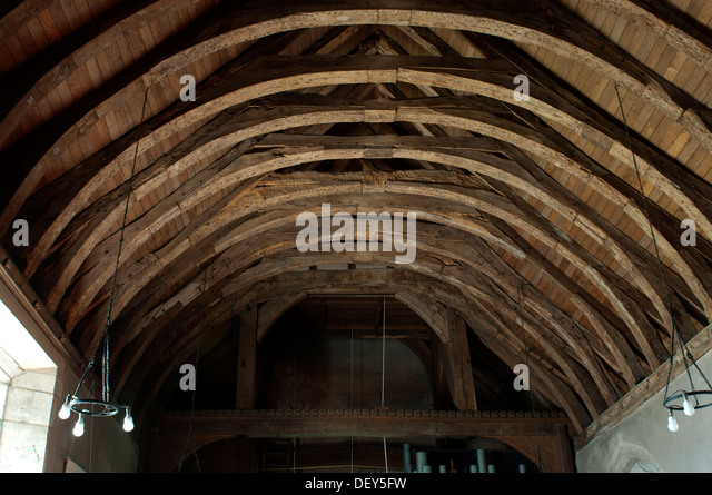 Curved ceiling beams stock photos curved ceiling beams for Arched ceiling beams