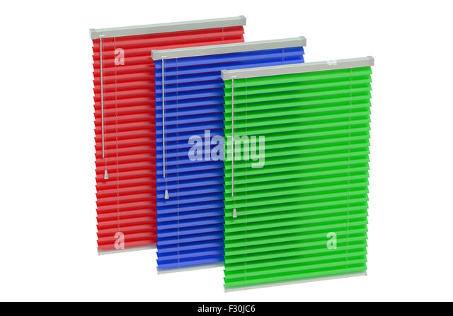 Set Of Colored Blinds Isolated On White Background Stock Image