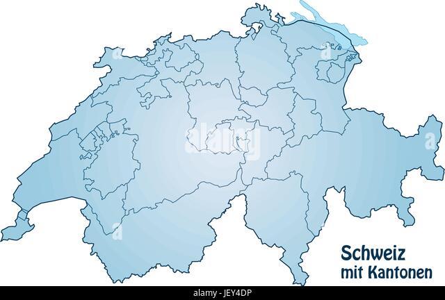 Map Switzerland Stock Photos Map Switzerland Stock Images Alamy