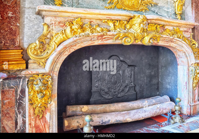 Salon with fireplace stock photos salon with fireplace for Salon versailles 2016