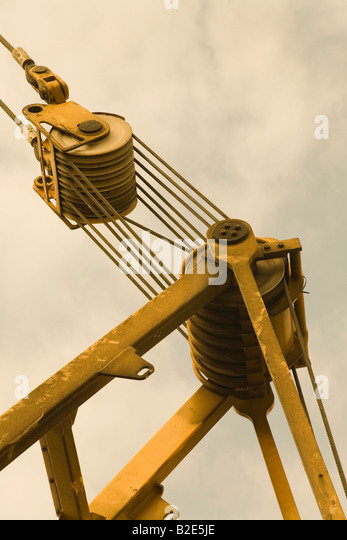 Pulleys In Cranes : Pulley stock photos images alamy