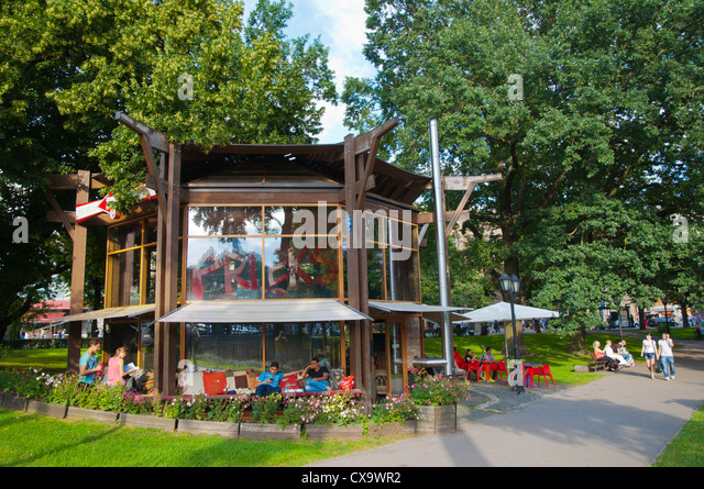 Teahouse Cafe Bastejkalns Park Central Riga Latvia Europe
