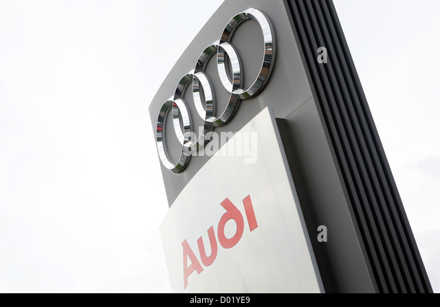 audi sign stock photos audi sign stock images alamy. Black Bedroom Furniture Sets. Home Design Ideas