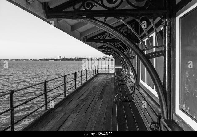 Boat Shelter Architectural Detail : Southend on sea black and white stock photos images alamy