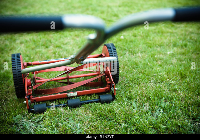 old fashioned lawnmower stock photos old fashioned lawnmower stock images alamy. Black Bedroom Furniture Sets. Home Design Ideas