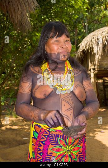 Embera Indian Stock Photos & Embera Indian Stock Images ...