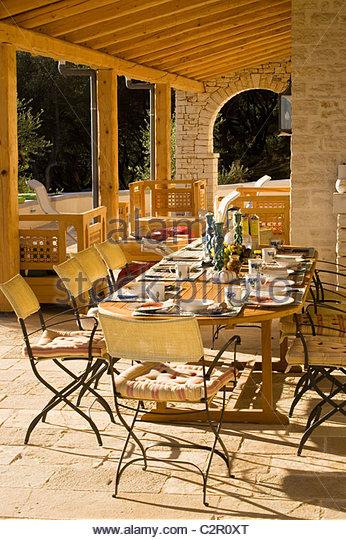 Breakfast on the porch stock photos breakfast on the for Breakfast terrace
