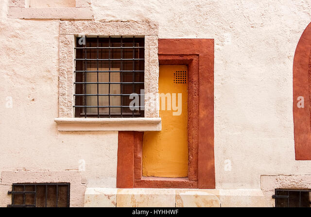Abstract shot of the bricked up doorway and window with bars - Stock Image & Window Blocked Bricked Up Stock Photos \u0026 Window Blocked Bricked Up ... Pezcame.Com