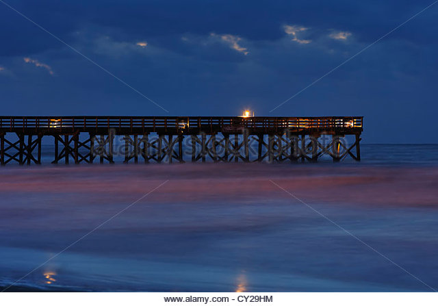 Ocean fishing pier stock photos ocean fishing pier stock for Isle of palms fishing pier