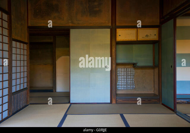 A Naturally Lit Interior View Shows The Traditional Tatami Mat Floors And  Tokonoma Alcove Of