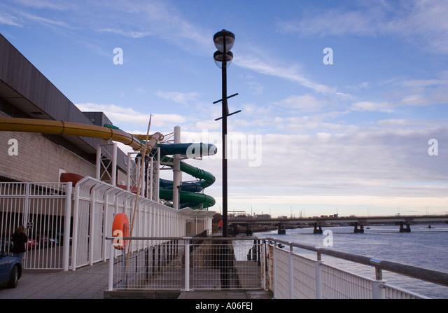 Chute swimming pool stock photos chute swimming pool - Dundee swimming pool opening times ...