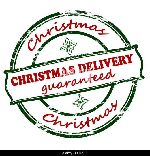 Christmas Delivery Red Rubber Stamp Stock Photos & Christmas ...