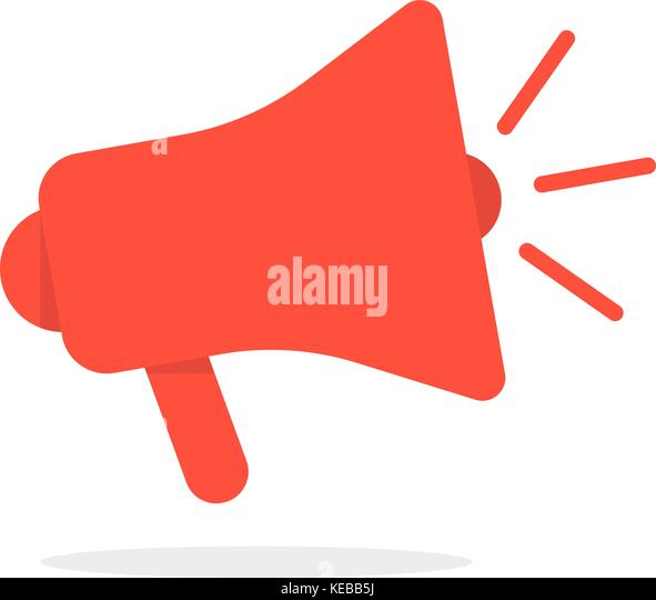 Megaphone Icon Loudspeaker Marketing Promotion Stock ...