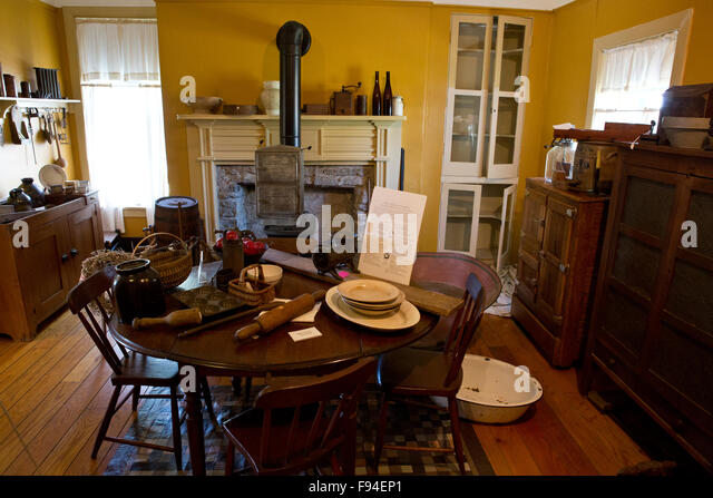 Dining Room Decorated To The Late 19th Century Farmhouse