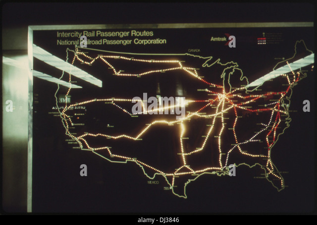 Stock Photos Stock Images Alamy - Passenger train routes us map