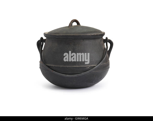 castiron kettle stock image