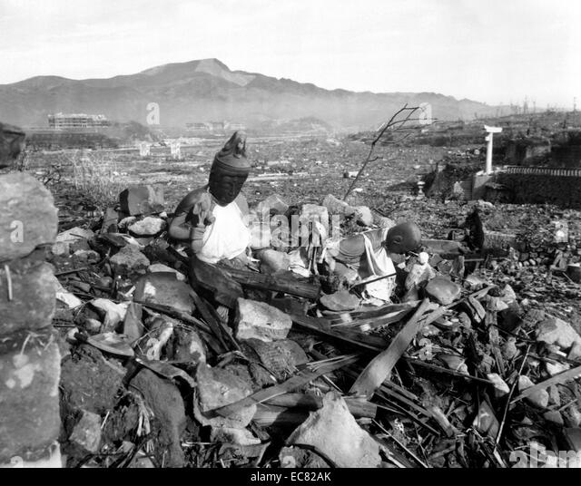 the devastation of the atomic bombing of japan by the us in 1945 The bomb: an atomic blast devastates nagasaki on aug 9, 1945  seventy  years ago today, a us army air force b-29 circled above kokura, japan, for  almost  six days after nagasaki's devastation — in the inferno and its.