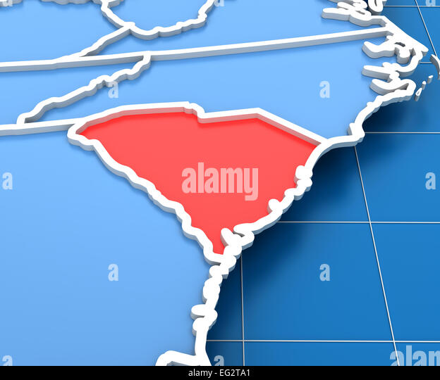 South Carolina Map Stock Photos South Carolina Map Stock Images
