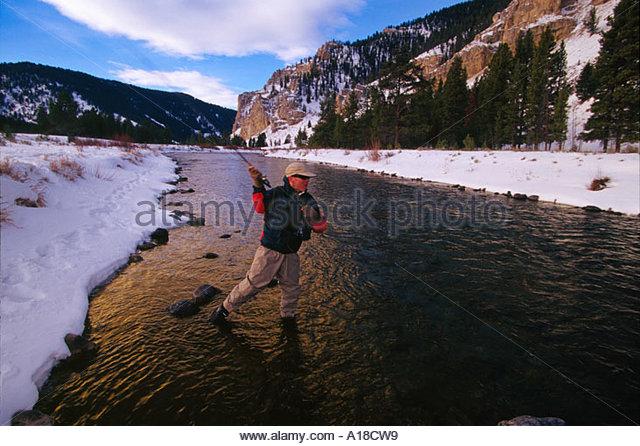 Gallatin river montana stock photos gallatin river for Fly fishing yellowstone river